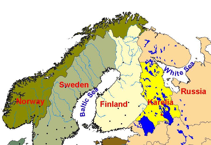 Karelia-mappa