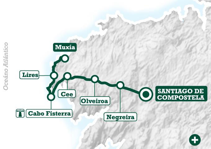 CamminoFinisterreMuxia-mapa