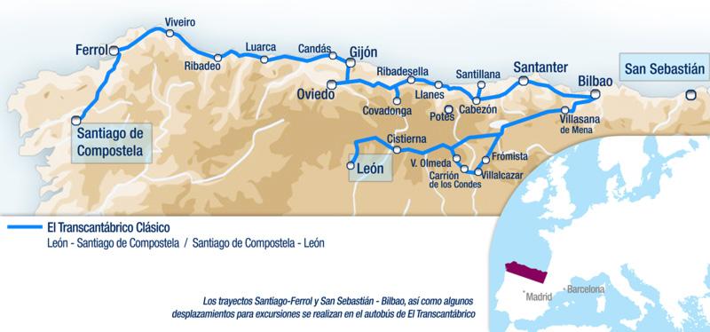 itinerario el transcantabrico classico