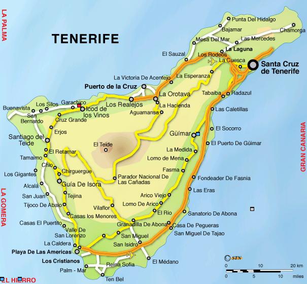 Hotel rurali appartamenti e hotel 4 stelle alle canarie - Puerto santiago tenerife mapa ...
