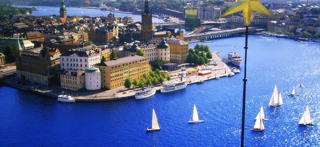 Bella veduta di Stoccolma in estate