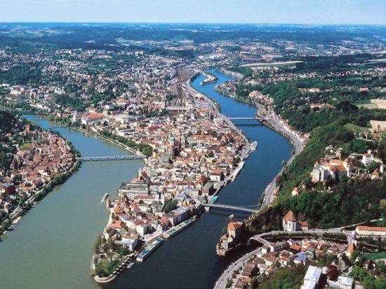 in bicicletta lungo il Danubio