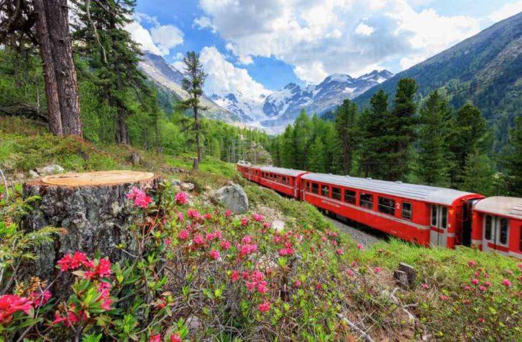 offerta svizzera con il trenino rosso del bernina