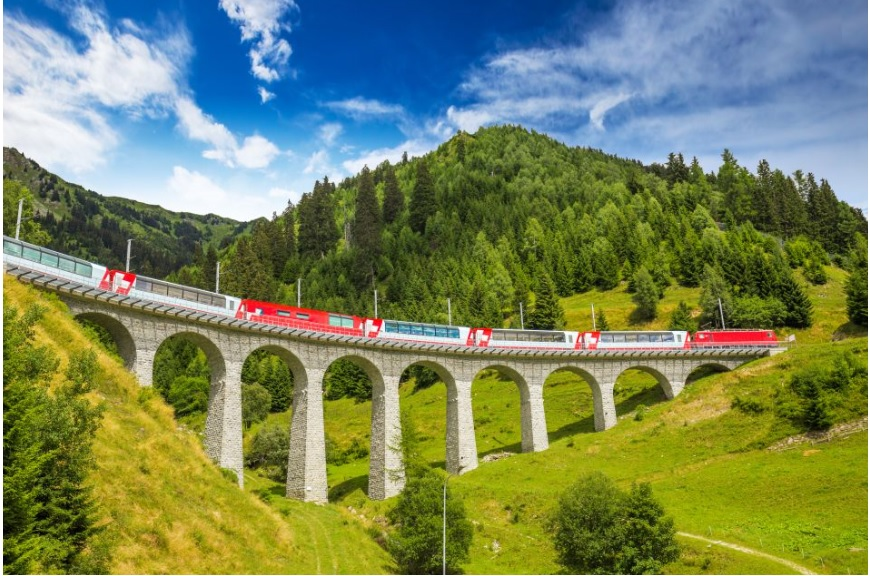 glacier express e bernina express