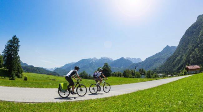 in bici nella valle dei tauri