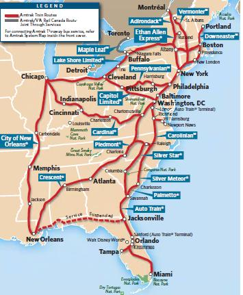 Stati Uniti Treno Amtrak