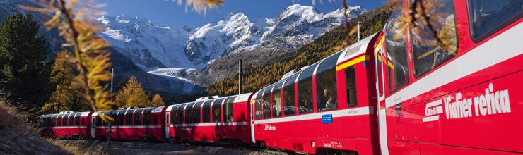 st.moritz e il trenino rosso