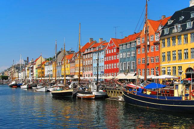 Le case colorate di Copenhagen