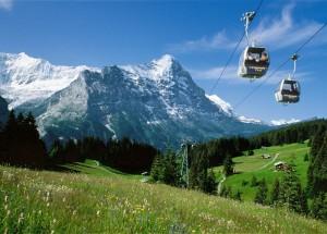 paesaggio estivo della regione della Jungfrau