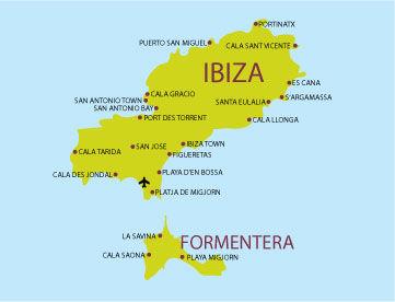 Cartina Spagna Isole Baleari.Ibiza E Formentera Un Combinato Alle Isole Baleari Per La Tua Estate