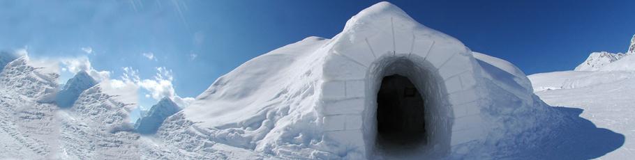 in Svizzera a Zermatt un igloo