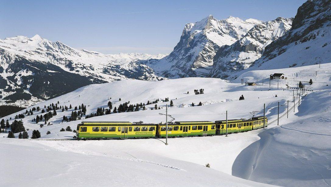la svizzera con il treno