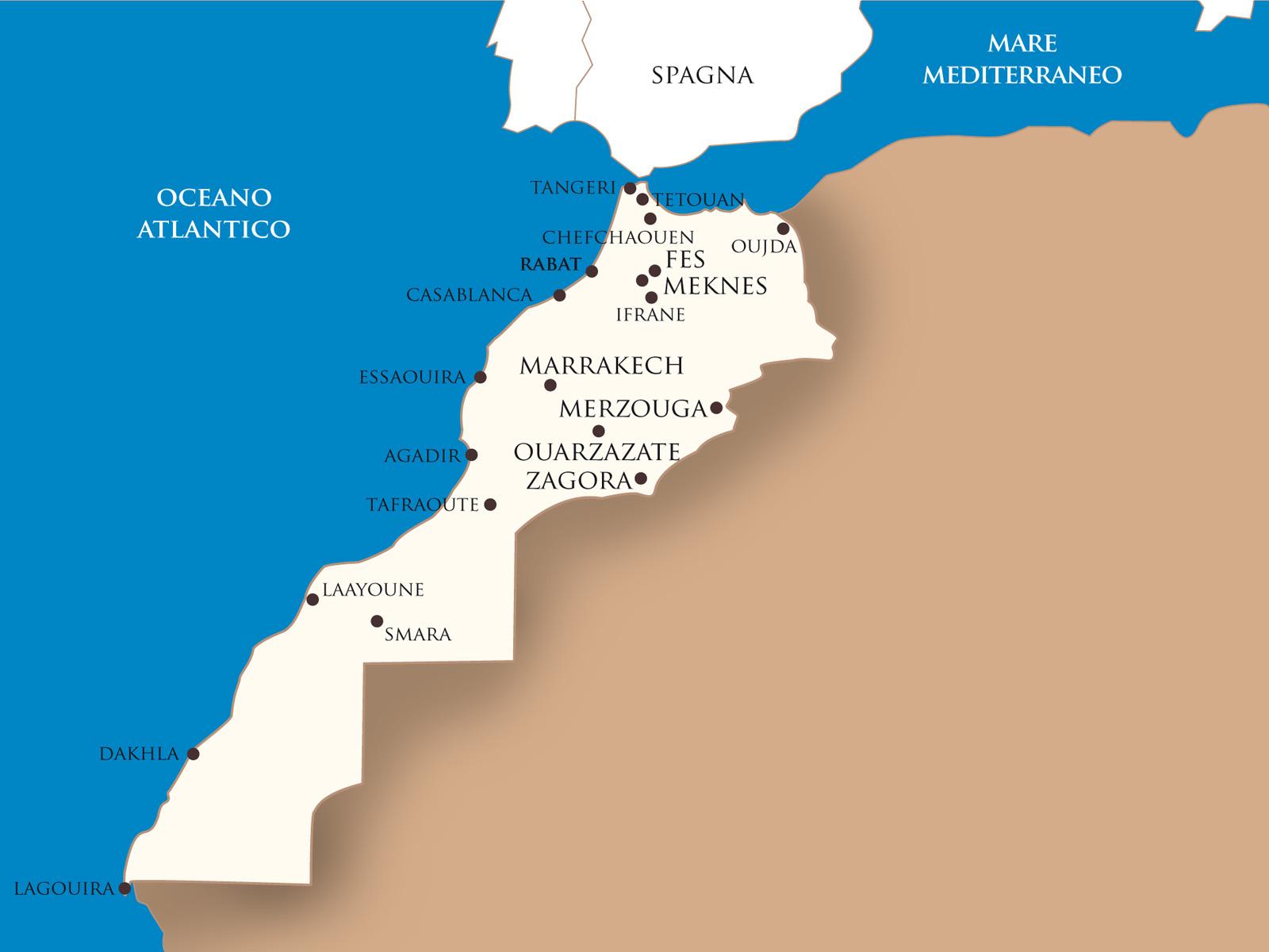 Cartina Spagna E Marocco.Viaggi In Marocco Soggiorni E Vacanze In Marocco Offerte Marocco
