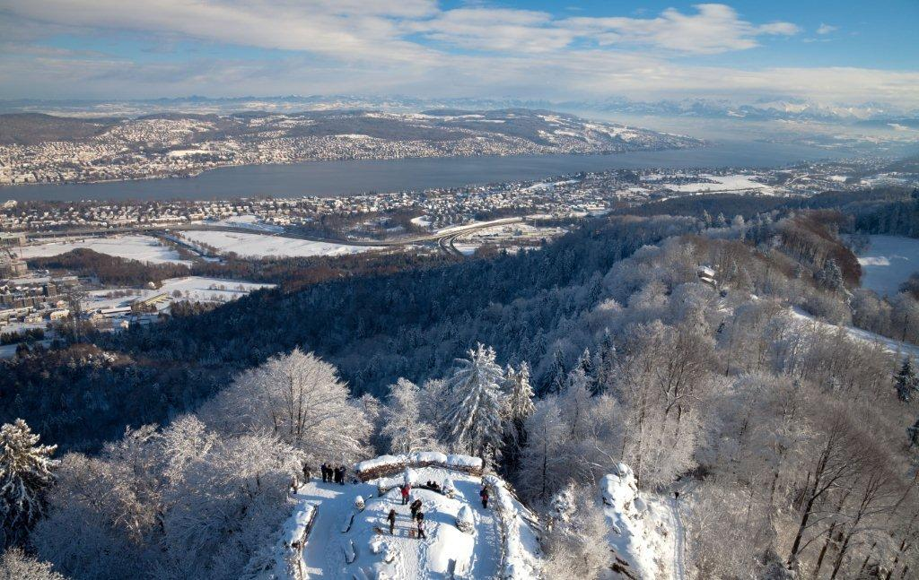 Veduta di Zurigo dall'Uetliberg